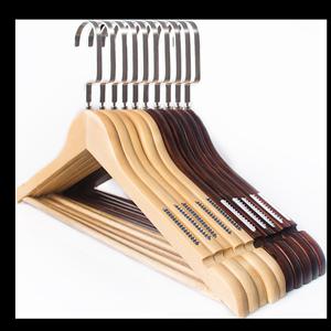 实木衣架家用儿童木质晾衣挂服装店专用木头防滑无痕木制衣服撑子
