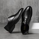 男皮鞋镂空透气夏季韩版正装男鞋凉鞋男士商务英伦休闲镂空皮凉鞋