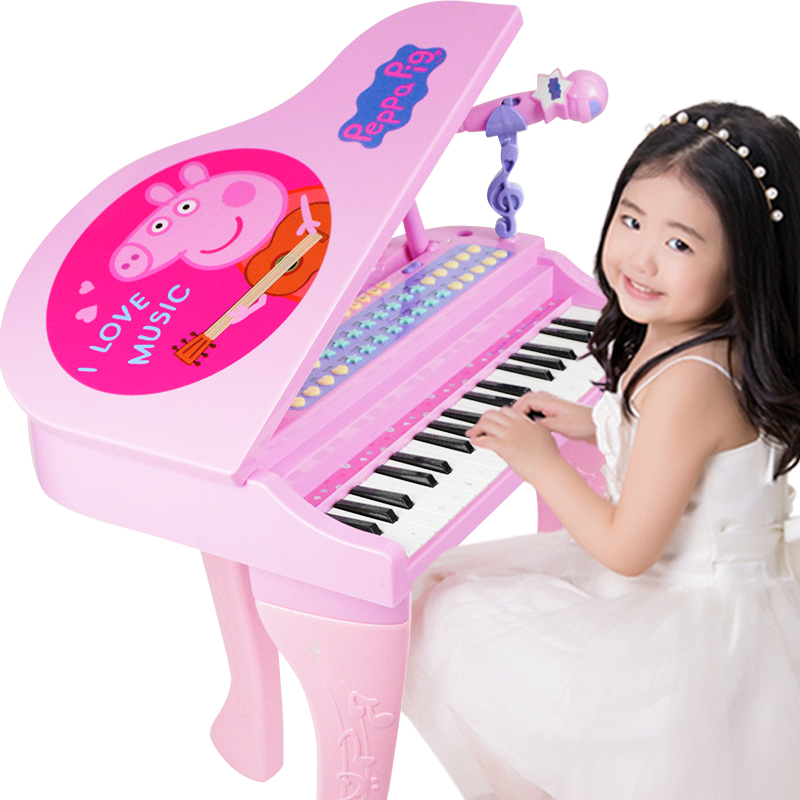 小猪佩奇幼儿童电子琴初学女孩1-3-6岁礼物贝芬乐宝宝琴佩琪钢琴