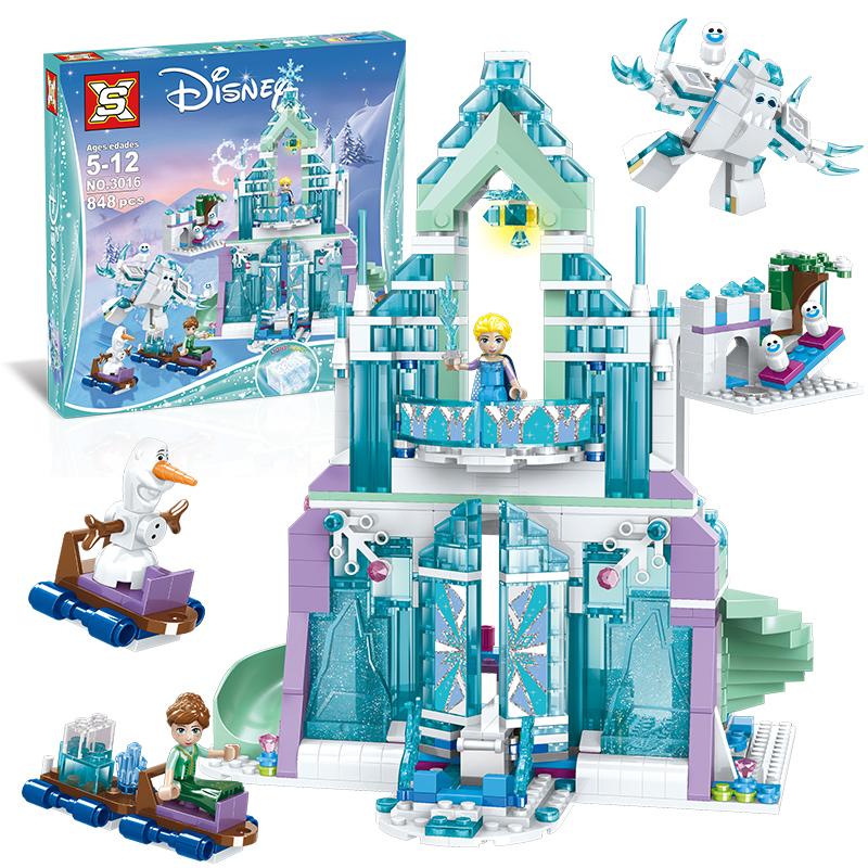 A双象3016魔法冰雪城堡女孩系列新品积木益智拼插公主玩具模型