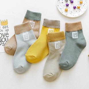 儿童袜子春秋季薄款纯棉可爱婴儿中筒袜男童女童中大童冬款宝宝袜