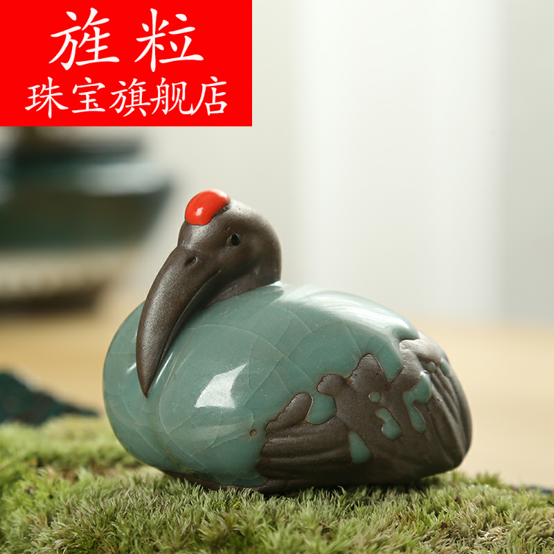 Continuous grain of zen express little monk tea pet elder brother up ceramic flower familiar creative move landscape bonsai landscape ornaments
