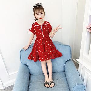 2020夏季新款女童洋气儿童公主裙小女孩雪纺连衣裙夏装中大童装潮