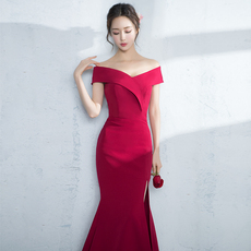 Evening dress Rose yarn mgs0133 2017