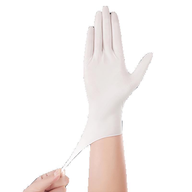 一次性手套乳胶橡胶加厚食品级商用丁腈PVC厨房餐饮洗碗纹绣劳保