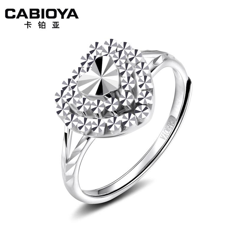 卡铂亚pt950铂金戒指 爱心戒指 白金心形戒指女戒 铂金戒指女款