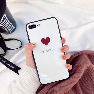 Ins new Apple 7/8plus phone shell mirror glass Apple X/8p shell iPhone6s tide brand female drop
