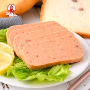江楼牌食品午餐肉罐头即食下饭户外野餐速食早餐特产午餐肉200gx3