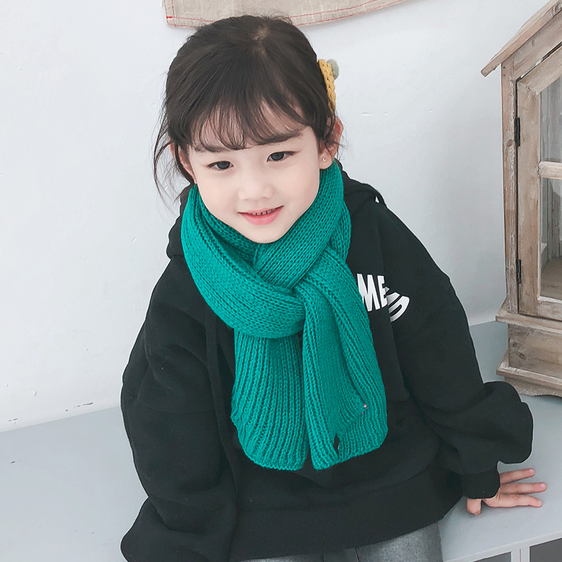 儿童围巾冬季新款毛线围巾男童女童针织围脖宝宝保暖围巾百搭围脖-给呗网