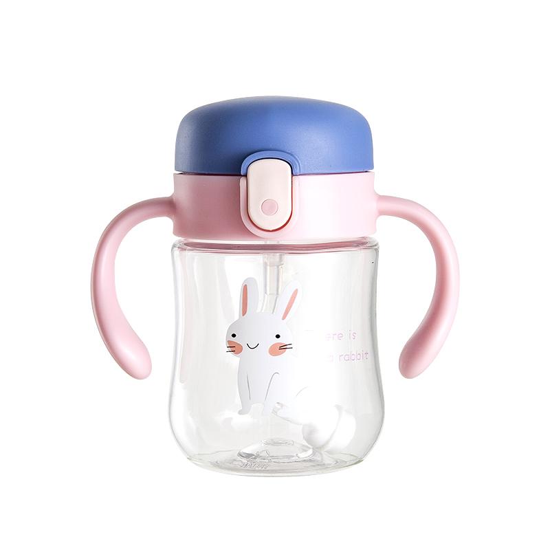 儿童水杯宝宝水壶幼儿园小学生防摔水瓶便携学饮直饮杯吸管杯婴儿