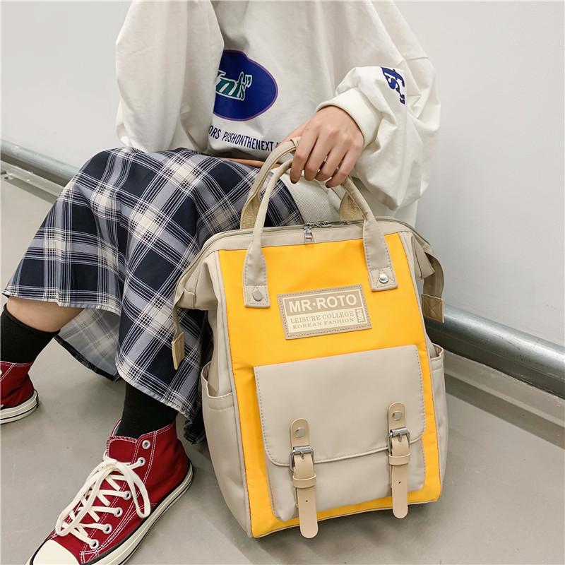 韩版双肩背包女学生书包