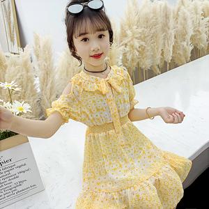 女童连衣裙夏装2020新款儿童夏季雪纺童装裙子女孩网红洋气公主裙
