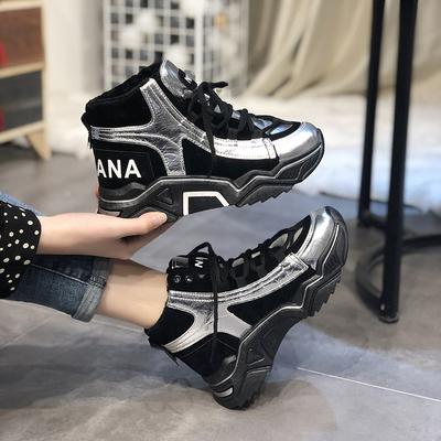 冬季高帮加绒保暖运动女鞋