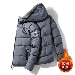棉衣男士中长款冬季外套2019年新款加厚韩版羽绒棉服工装潮流棉袄