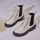 女士秋冬季马丁靴高帮鞋厚底鞋工装靴女鞋