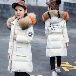 2019冬季新款女童中长款棉衣韩版棉袄外套中大童棉服冬装儿童