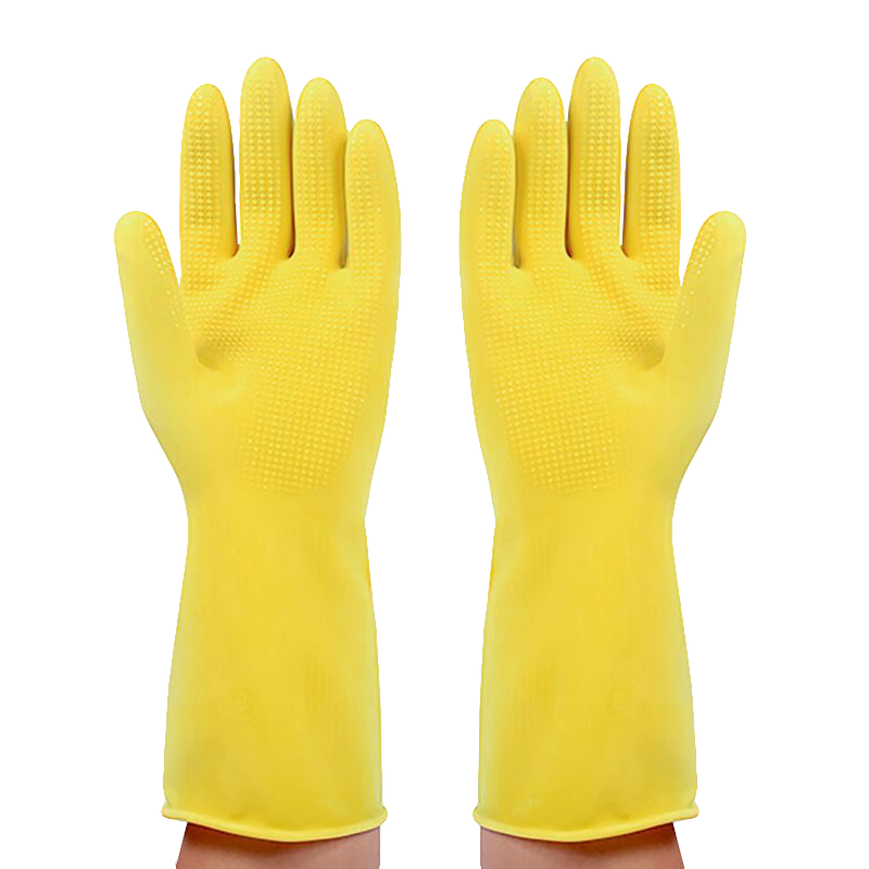 红桥乳胶手套女加厚耐酸碱家务防水洗碗刷锅牛筋塑胶厨房橡胶