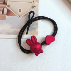发绳女简约网红emijay绑头发的头绳女士新款气质优雅红色发圈皮筋价格比较