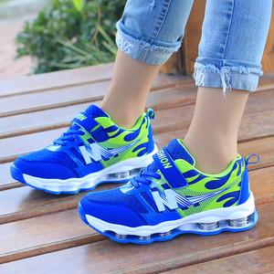 2020春秋新品7弹簧运动鞋网面白点休闲鞋童网布跑步鞋魔术贴