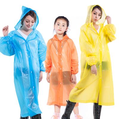 两件三件成人加厚加大户外徒步旅游非一次性PEVA束口防护雨衣