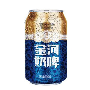 金河奶啤300*12易拉罐装乳酸菌饮料发酵酸奶啤饮品整箱网红奶包邮