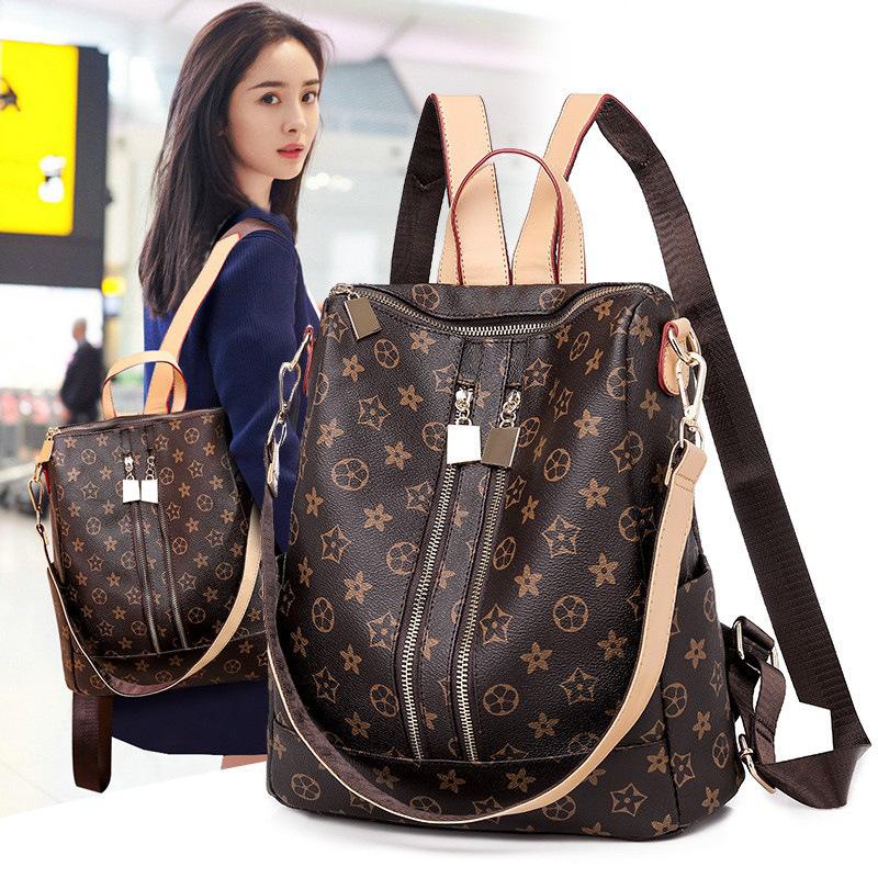 双肩包女2020新款时尚百搭韩版潮流女士背包大容量旅行休闲小书包