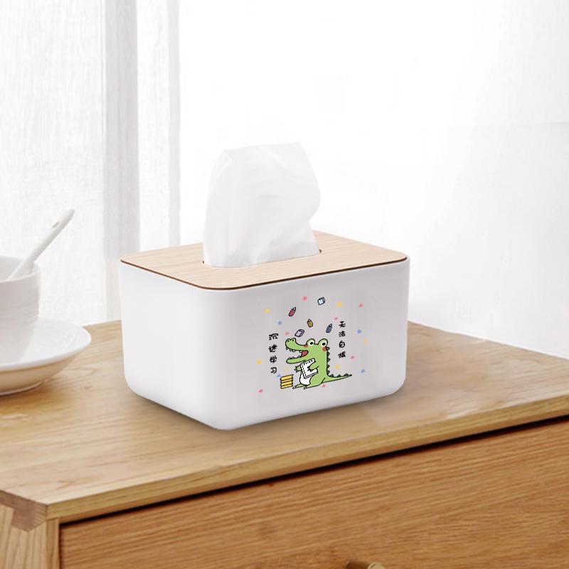 桌面紙巾盒個性創意可愛簡約定制家用客廳餐桌茶幾桌面抽紙盒
