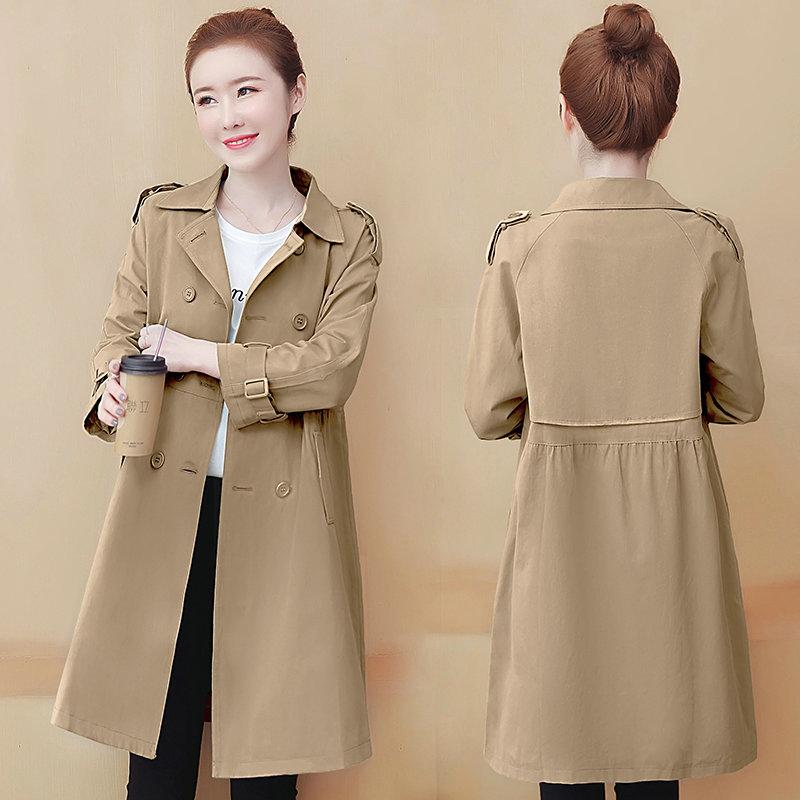 每都风衣女中长款新款2020秋季新款韩版宽松流行小个子显瘦外套