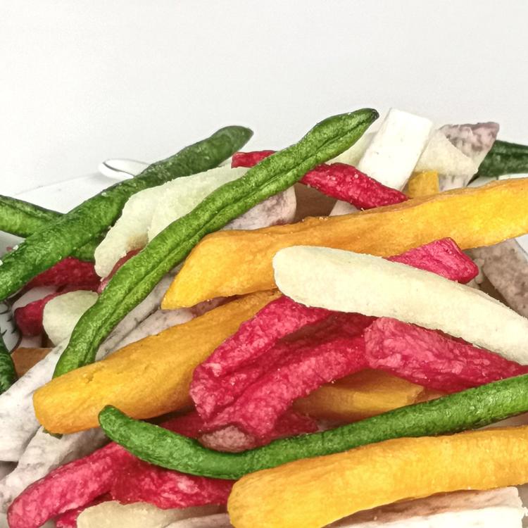 天美农工  什锦果蔬脆片蔬菜干水果零食混合装脱水即食香菇秋葵脆