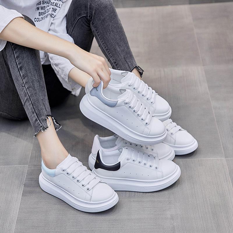 ins小白鞋女2021春季新款学生板鞋女厚底松糕鞋女潮小白鞋