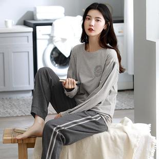 女春秋季长袖纯棉韩版休闲学生可外穿睡衣