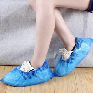 100只一次性鞋套加厚防水防臭脚套下雨天
