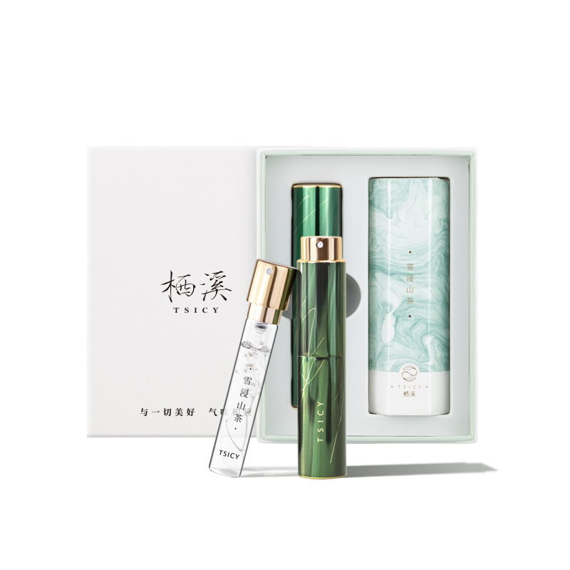 栖溪香水TSICY 学生少女清新香水持久淡香口红香水小众品牌礼盒