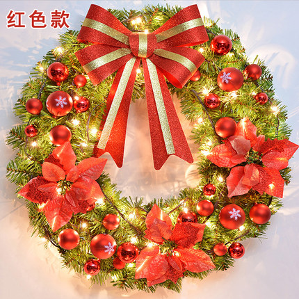 Christmas Wreath door hanging Christmas decorations 45CM/50CM/60CM Christmas tree wreath hanging