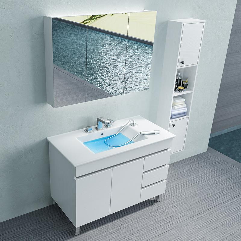 浴室柜组合落地式现代简约卫生间洗漱台洗手盆柜洗脸盆柜落地柜