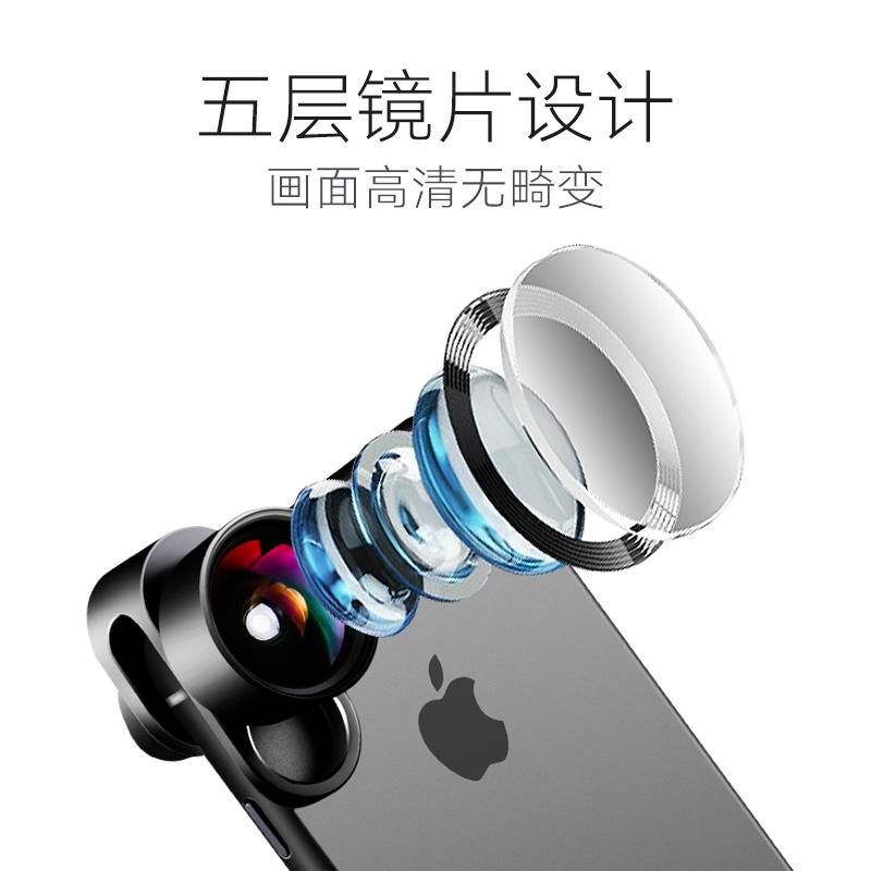 手机摄像头外置高清抖音7p镜头广角微距鱼眼苹果iphone8通用单反拍照三合一套装相机外接plus安卓华为vivo