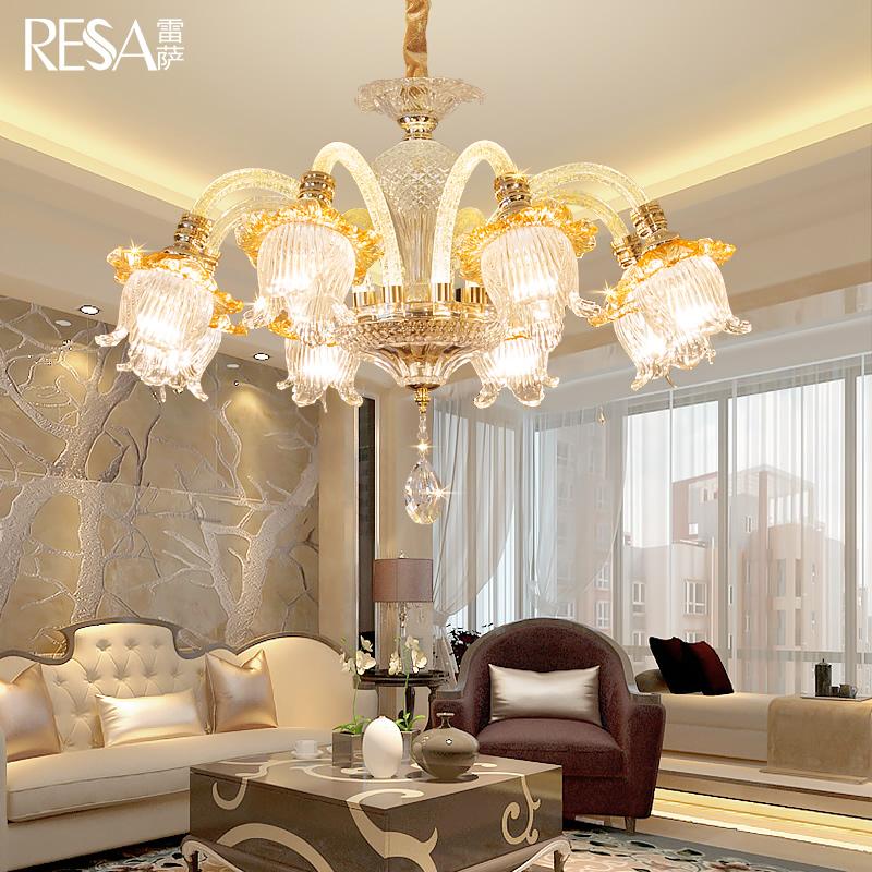 雷萨欧式吊灯客厅吊灯现代简约卧室餐厅吊灯奢华大气水晶吊灯灯具