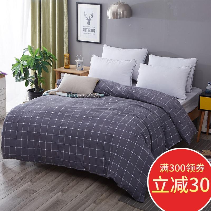 被套单件纯棉全棉磨毛加厚双人夏季单人床1.5米水洗棉被罩200x230