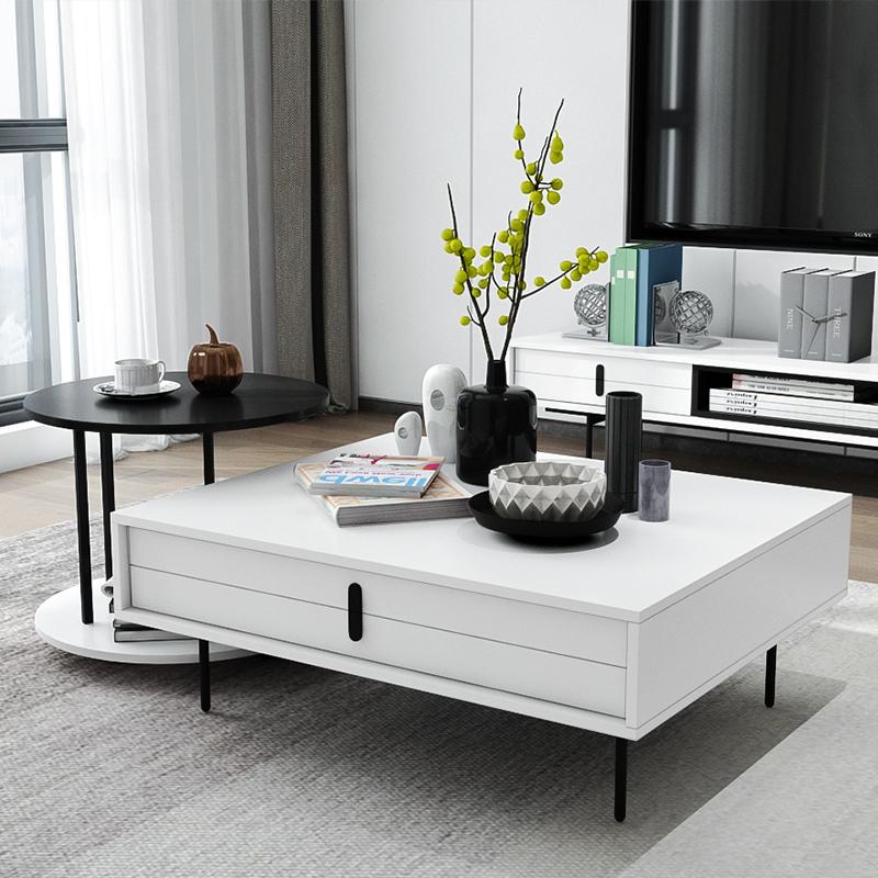 艾依美儿 设计创意时尚茶几北欧风简约客厅沙发茶几边几组合套装