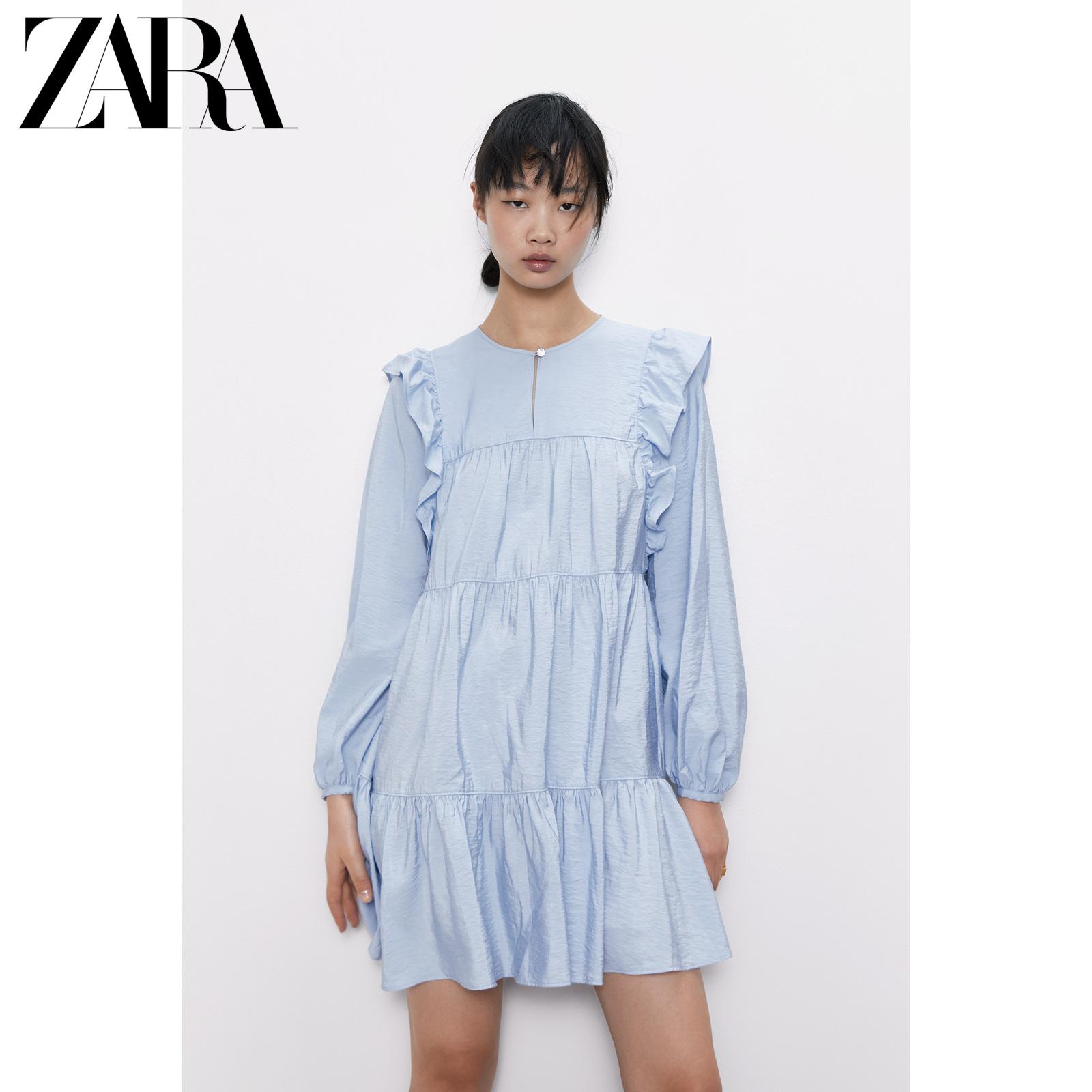 ZARA女装 珠宝纽扣连衣裙 08514056400