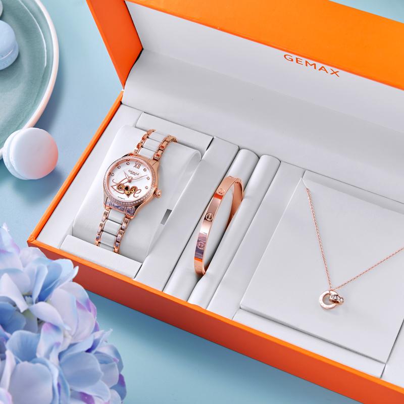 格玛仕女表品牌正品陶瓷手表机械表女士手表防水时尚款女2018新款