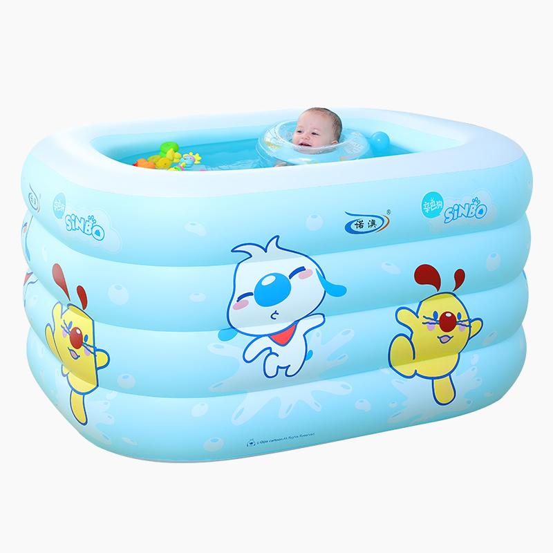 诺澳 婴儿游泳池加厚新生儿游泳桶宝宝保温家用儿童充气浴盆