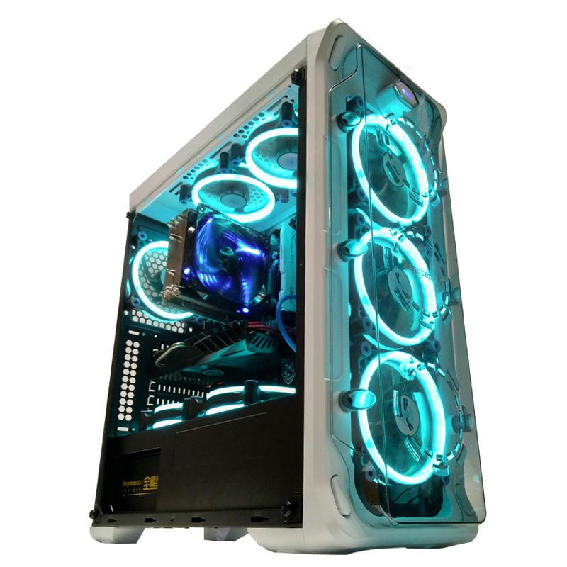 鑫谷LUX拉克斯全侧透机箱包邮ATX水冷分体式水冷机箱台式电脑机箱