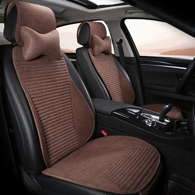 2018新款汽车亚麻坐垫奔驰E300L GLC300 C200L GLK四季冬季座垫