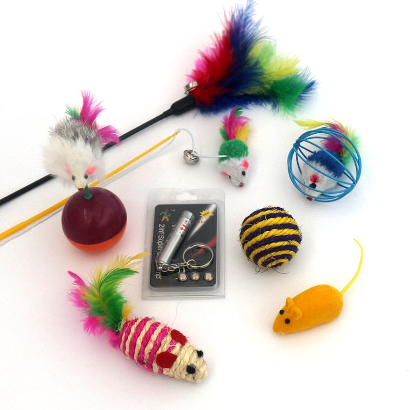 猫玩具套装自嗨逗猫棒羽毛老鼠铃铛不倒翁小猫磨牙鱼猫咪用品全套