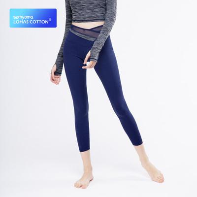samyama提臀运动健身裤女秋季弹力紧身跑步瑜伽打底裤速干八分裤