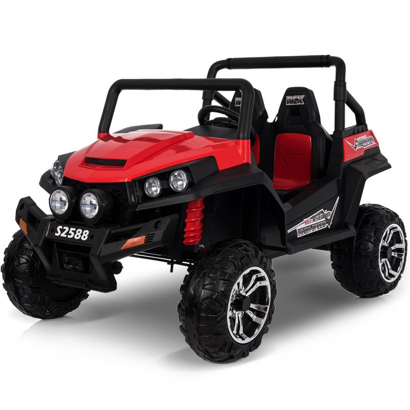 大型双座儿童电动车四轮四驱越野遥控可坐人小孩玩具汽车宝宝童车