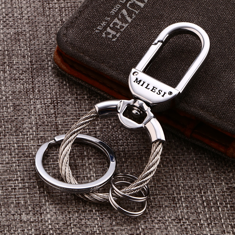 Millers car key chain men's creative waist hanging remote key ring personalized metal business key chain simple