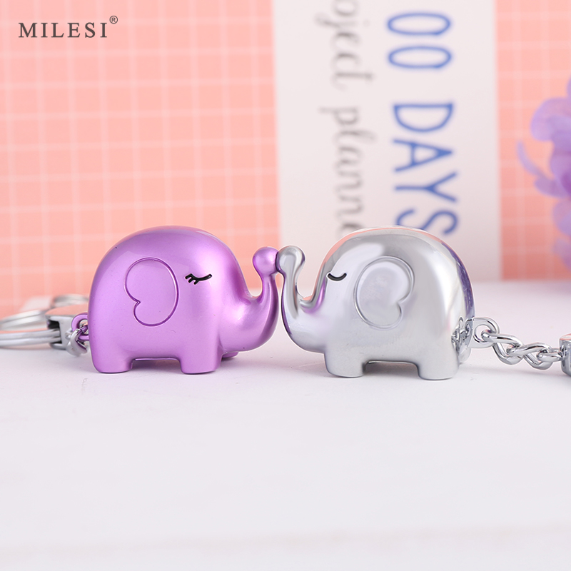 Millers three-dimensional object couple keychain keychain creative chain car pendant cartoon cute doll
