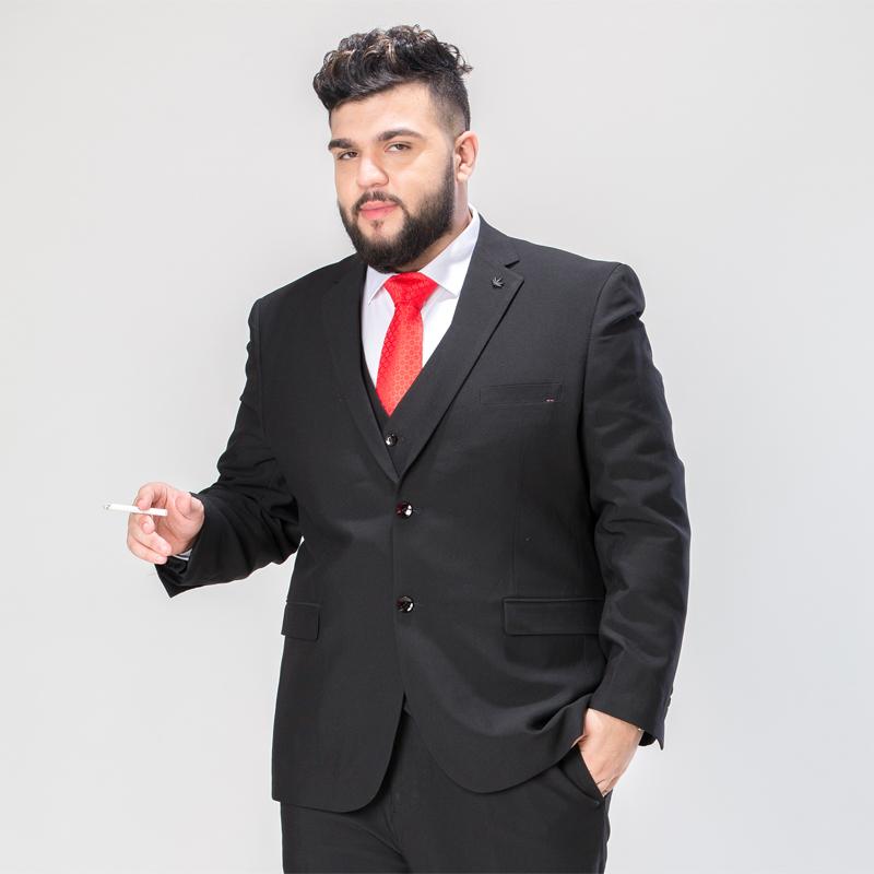 Fat Suit Suit Men S Large Size Business Suit Plus Fertilizer To